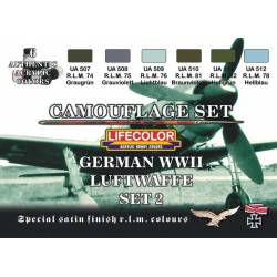 Set 2 Luftwaffe Alemana WWII. LIFECOLOR CS07