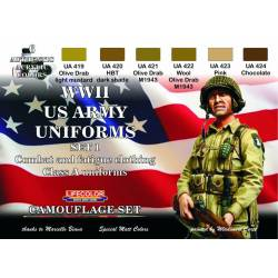 Set 1 Uniformes Estadounidenses WWII. LIFECOLOR CS17