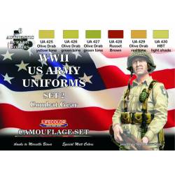 Set 2 Uniformes Estadounidenses WWII. LIFECOLOR CS18