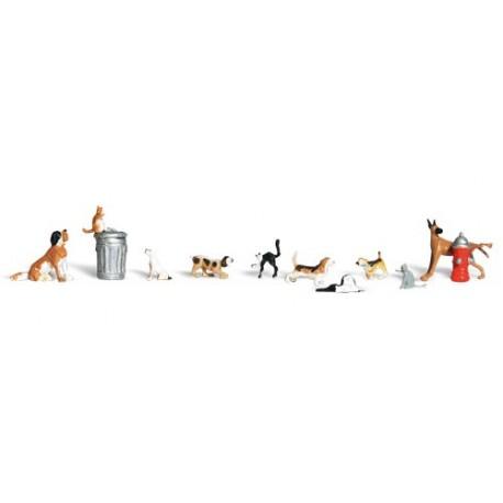Perros y gatos. WOODLAND SCENICS A1841