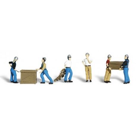 Trabajadores del puerto. WOODLAND SCENICS A1823