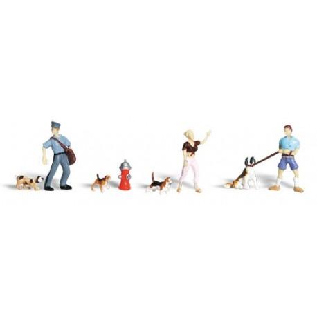 Gente y mascotas. WOODLAND SCENICS A1827