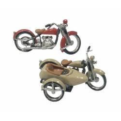 Motos y sidecar. WOODLAND SCENICS D228