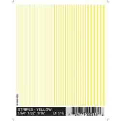 Transfer stripes yellow.
