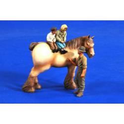 Niños a caballo. VERLINDEN PRODUCTIONS 2692
