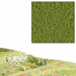 Flocado grueso verde primavera.