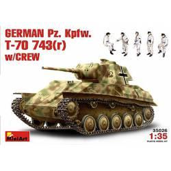 German Pz. Kpfw. T-70 743(r).