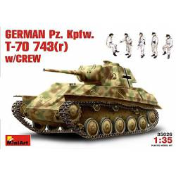 German Pz. Kpfw. T-70 743(r). MINIART 35026