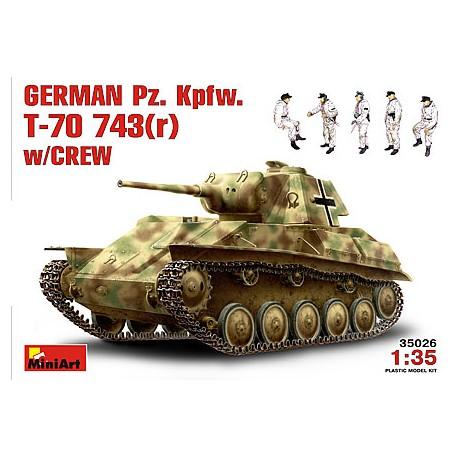 German Pz. Kpfw. T-70 743(r). MINIART 35026