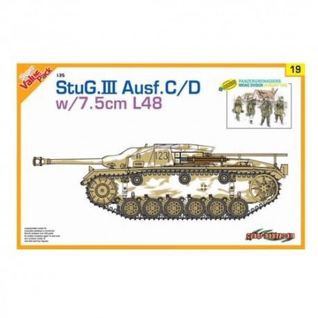 StuG. III Ausf.C/D w/7.5cm L48. DRAGON 9119