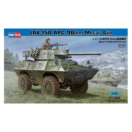 LAV 150 APC 90 mm Mecar gun. HOBBY BOSS 82421
