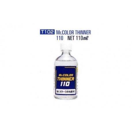 Diluyente para pinturas Gunze. 110 ml. MR COLOR T102