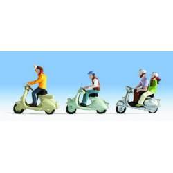 En scooter.
