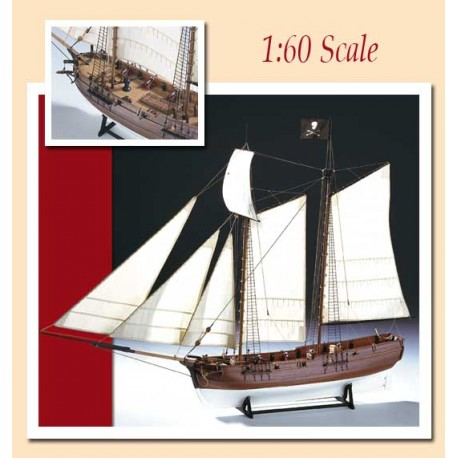 Adventure, Pirate ship 1760 . AMATI 1300/1