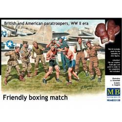 Friendly Boxing Match, British vs American.