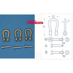 Shackles 7,6 mm (x 4).