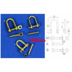 Shackles 10,5 mm (x 4).