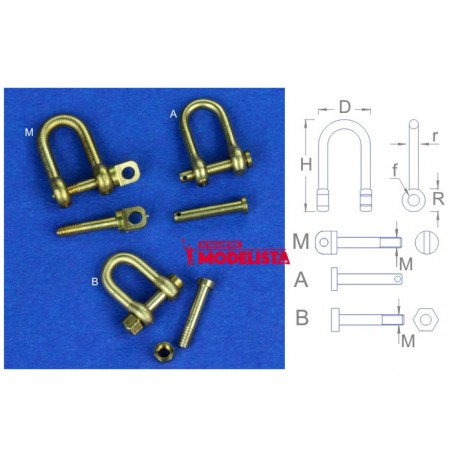 Shackles 10,5 mm (x 4). RB 077-107