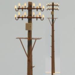 Poste para tendido de luz con registro y plataforma. RB 2833