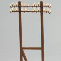 Poste doble para tendido de luz. RB 2837