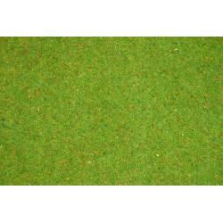 Flowered grass mat .