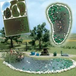 Garden pond set.