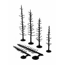 Troncos de pinos, 100-150 mm. WOODLAND SCENICS TR1125