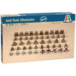 Obstáculos antitanque. ITALERI 6147