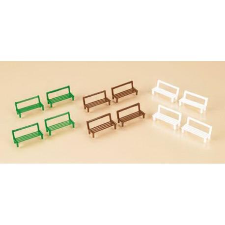 12 benches. AUHAGEN 42650