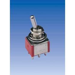 Conmutador de palanca (ON)-OFF-(ON) de seis patillas. IT0123