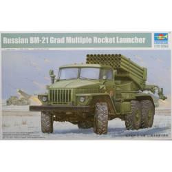 Camión lazacohetes ruso BM-21.