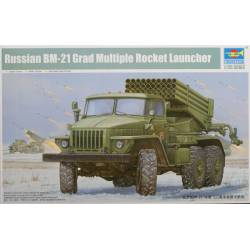 Russian BM-21 Grad Multiple Rocket Launcher. TRUMPETER 01013