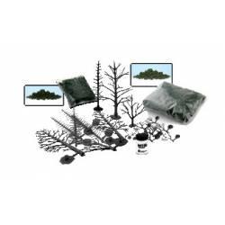 Set de creación de árboles.