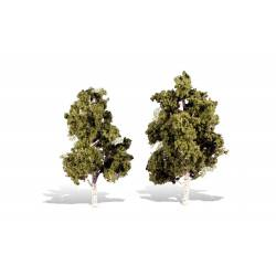 2 árboles.