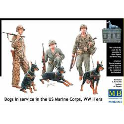 Dogs in service in the US Marine Corps.