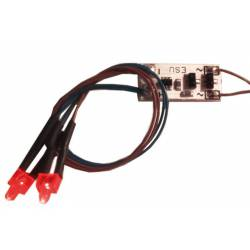 Set de luces de cola, 2 LEDs rojo. ESU 50705