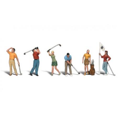 Jugadores de golf. WOODLAND A1907