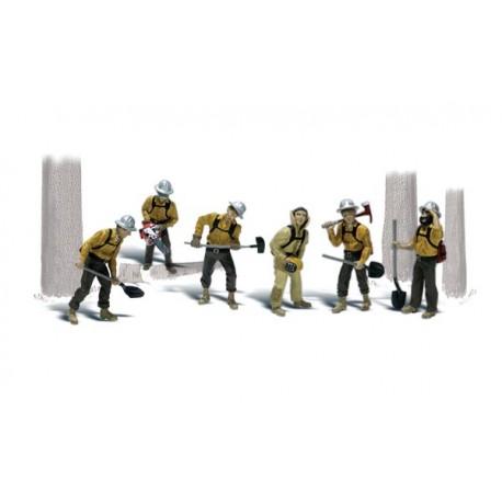 Trabajadores forestales. WOODLAND SCENICS A1919