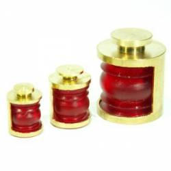 Ship lamp, red. 4 mm (x4).