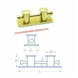 Bolardo doble de amarre para puertos (x4). RB 047-20
