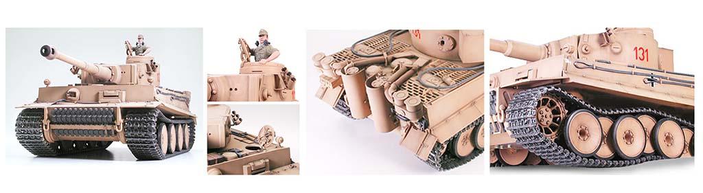 Maqueta de un tanque de Tamiya